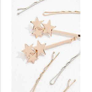 Kitsch 8 Pc Star Bobby Pin Set Silver Gold